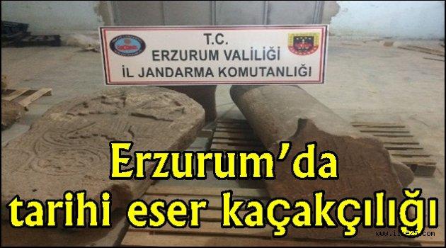 Erzurum'da tarihi eser kaçakçılığı