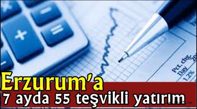 Erzurum'a 7 ayda 55 teşvikli yatırım