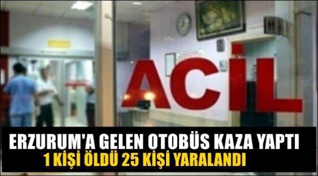 Erzurum'a Gelen Otobüs Devrildi!