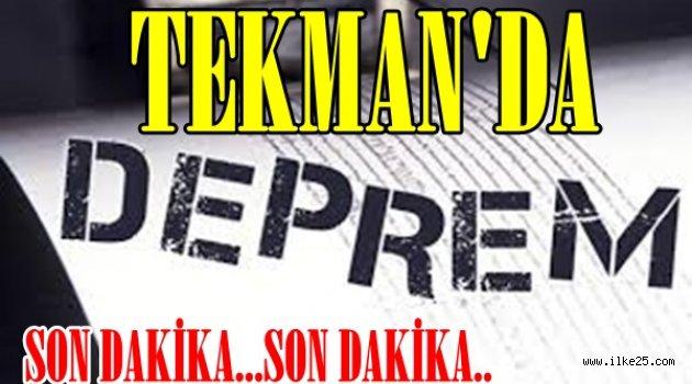 Erzurum'da Hafif Şiddetli Deprem