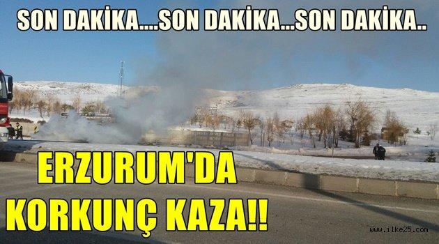 Erzurum'da Korkunç Kaza!