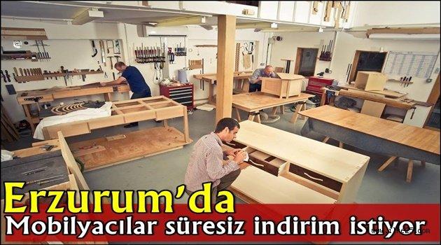 Erzurum'da Mobilyacılar süresiz indirim istiyor