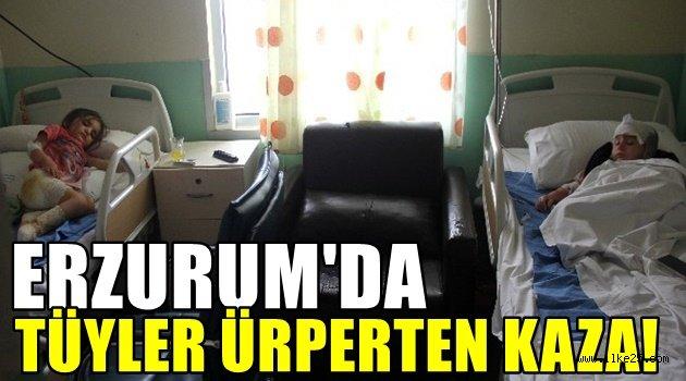 Erzurum'da Tüyler Ürperten Kaza
