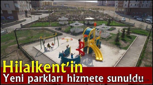 Hilalkent'in yeni parkları hizmete sunuldu