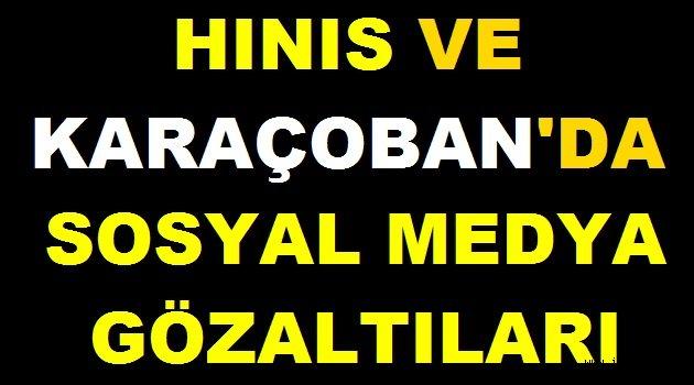 Hınıs Ve Karaçoban'da Sosyal Medya Gözaltıları