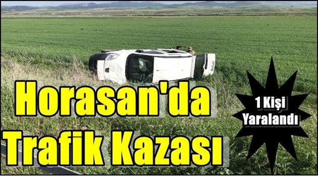 Horasan'da Trafik Kazası