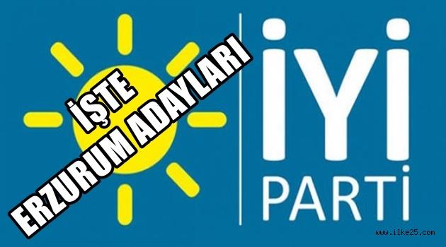 İşte İyi Parti Erzurum Adayları