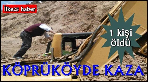 Köprüköy'de Kaza!! 1 Ölü