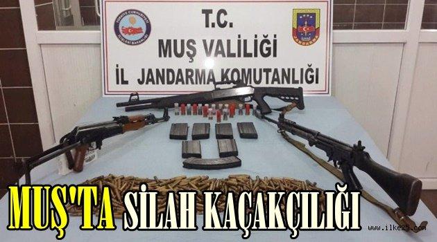 Muş'ta silah kaçakçılığı