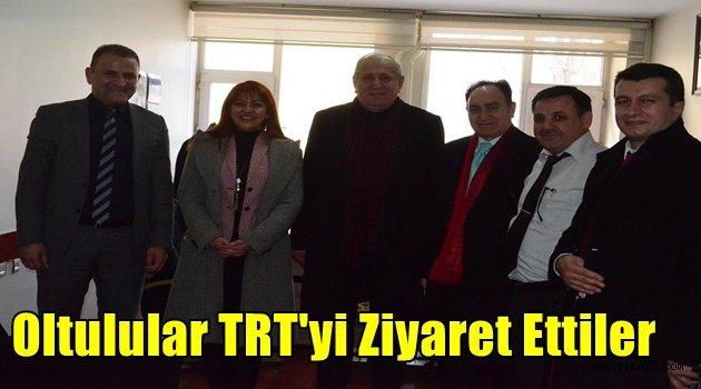 Oltulular TRT'yi Ziyaret Ettiler