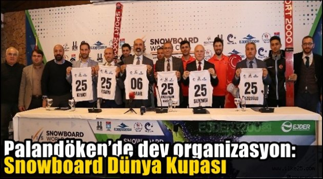 Palandöken'de dev organizasyon: Snowboard Dünya Kupası