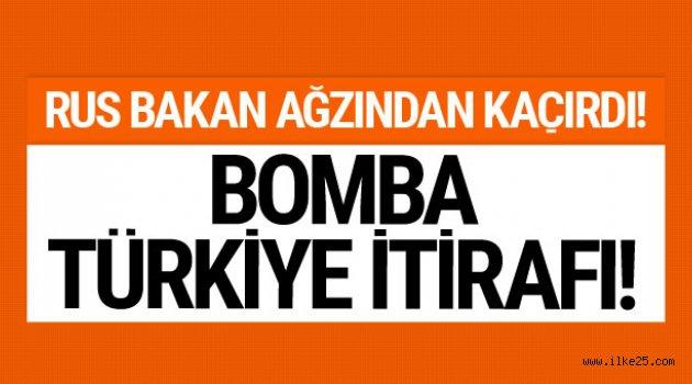 Rus Bakan ağzından kaçırdı! Bomba Türkiye itirafı