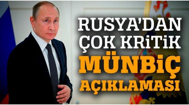 Rusya'dan Münbiç Açıklaması