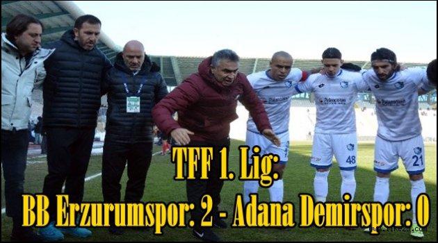 TFF 1. Lig: BB Erzurumspor: 2 - Adana Demirspor: 0