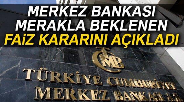 Merkez Bankası faiz oranlarında değişiklik yapmadı