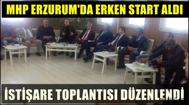 MHP Erzurum'da İstişare Toplantısı Yaptı