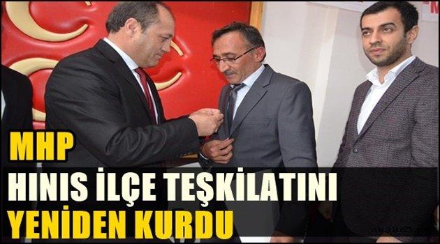 MHP Hınıs ilçe Teşkilatı Tekrar Kuruldu