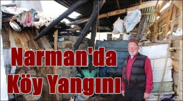 Narman'da Köy Yangını