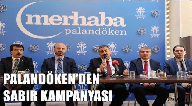 Palandöken'den 'Sabır' kampanyası