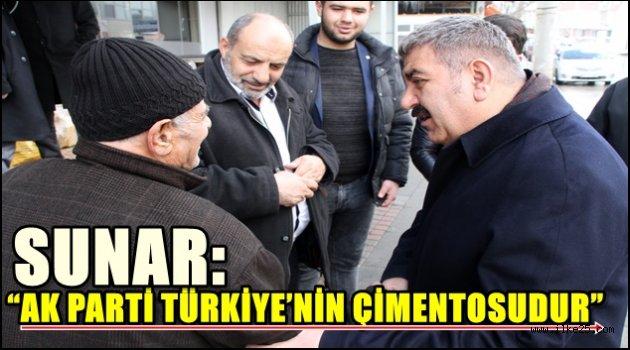 """SUNAR: """"AK PARTİ TÜRKİYE'NİN ÇİMENTOSUDUR"""""""