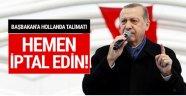 Erdoğan'dan Başbakan'a Hollanda talimatı!