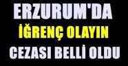Erzurum'da İğrenç Olayın Cezası Belli Oldu