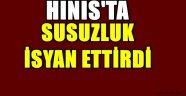Hınıs'ta Susuzluk İsyan Ettiriyor