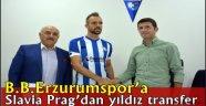 B.B.Erzurumspor'a Slavia Prag'dan yıldız transfer