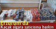 Erzurum'da Kaçak sigara satıcısına baskın