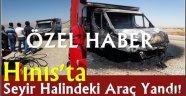 Hınıs'ta Seyir Halindeki Araç Yandı!