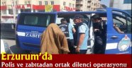 Erzurum'da Polis ve zabıtadan ortak dilenci operasyonu