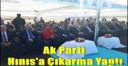 Ak Parti Hınıs'a Çıkarma Yaptı