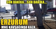 Son Dakika...Erzurum MNG Kavşağı'nda Kaza!!