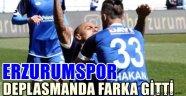Erzurumspor Deplasmanda Farka Gitti