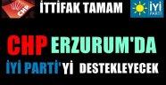 CHP Erzurum'da İYİ Parti Adayını Destekleyecek