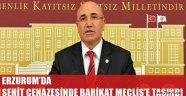ERZURUM'DA ŞEHİT CENAZESİNDE BARİKAT MECLİS'E TAŞINDI