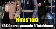 Hınıs'taki KCK Operasyonunda 9 Tutuklama
