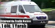 Erzurum'da Trafik Kazası: 1ölü, 1 Yaralı