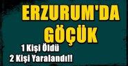 Erzurum'da Göçük