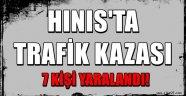 Hınıs'ta Trafik Kazası..