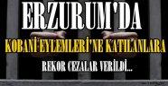 ERZURUM'DA KOBANİ EYLEMLERİ'NE KATILANLARA REKOR CEZALAR...