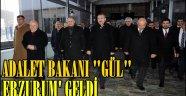 Adalet Bakanı Abdulhamit GÜL Erzurum'a Geldi