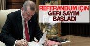 Anayasa Değişiklik Kanunu Erdoğan'ın masasında
