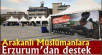 Arakanlı Müslümanlar için Erzurum'dan destek