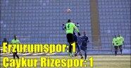 BB. Erzurumspor: 1 - Çaykur Rizespor: 1