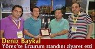 Deniz Baykal, Yörex'te Erzurum standını ziyaret etti
