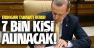 Erdoğan talimat verdi! 7 bin bekçi alınacak...