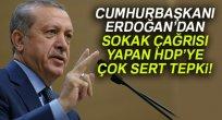 Erdoğan'dan sokak çağrısı yapan HDP'ye çok sert tepki!