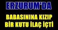 Erzurum'da Babasının Lafına Kızdı Bir Kutu İlaç İçti