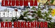 Erzurum'da Bugün Kar Yağışı Bekleniyor